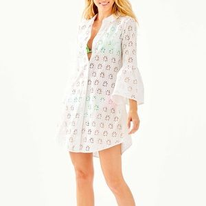 Lilly Pulitzer gala cover up white eyelet